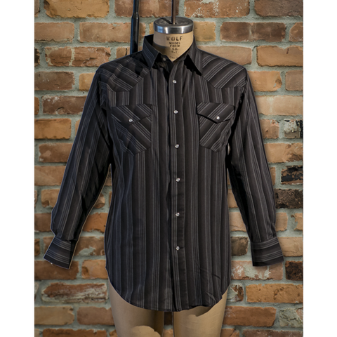 Men's Western Long Sleeve Stripe Shirt - I30D01-57