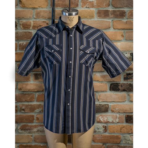 Men's Western Short Sleeve Stripe Shirt - I30E01-51