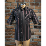 Men's Western Short Sleeve Stripe Shirt - I30E01-76