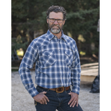 "The ""Won't Shrink A Size"" Flannel Shirt in Moonbeam Blue I36V00-41"