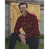 "The ""Won't Shrink A Size"" Flannel Shirt in Nipigon Red - I36V00-03"