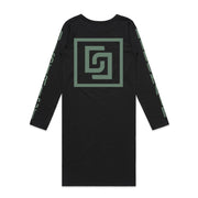 Tribal Insignia Long Sleeve Maxi