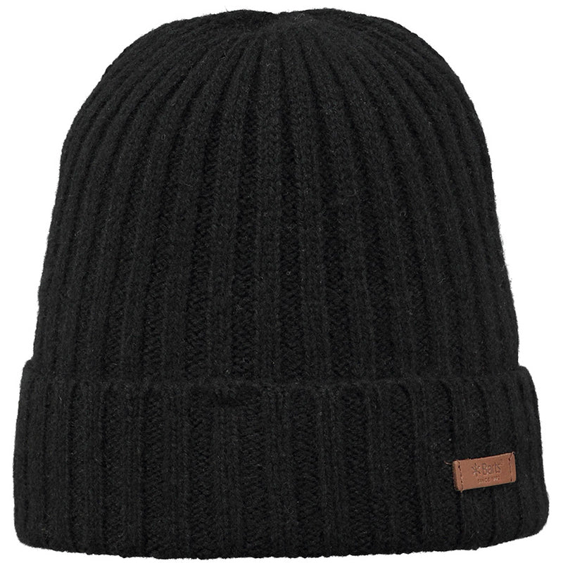 Barts Haakon Turn Up Beanie Strickmütze Wintermütze Black
