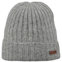 Barts Haakon Turn Up Beanie Strickmütze Heather Grey