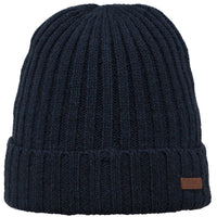 Barts Haakon Turn Up Beanie Strickmütze Wintermütze Navy