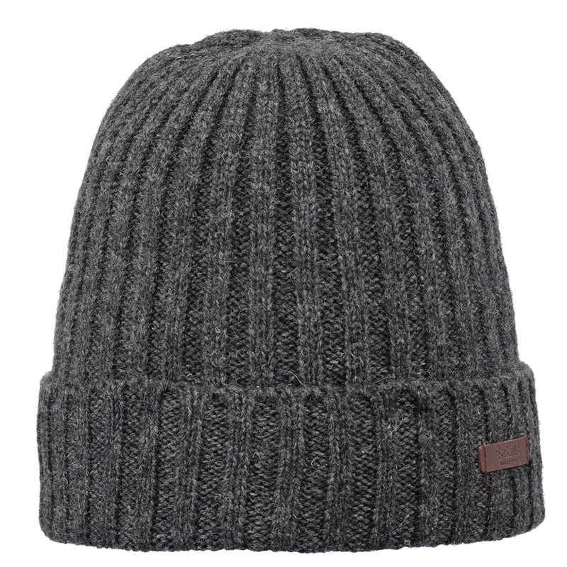 Barts Haakon Turn Up Beanie Strickmütze Wintermütze Charcoal
