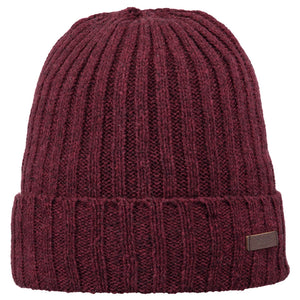 Barts Haakon Turn Up Beanie Strickmütze Wintermütze Burgundy