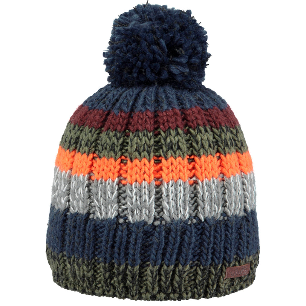 Barts Buck Kids Beanie Kindermütze Bommelmütze Orange Olive