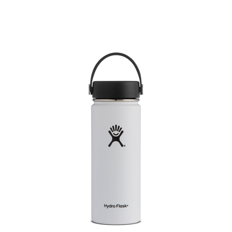 Hydro Flask Wide Mouth Trinkflasche 18 oz 532ml Weiß