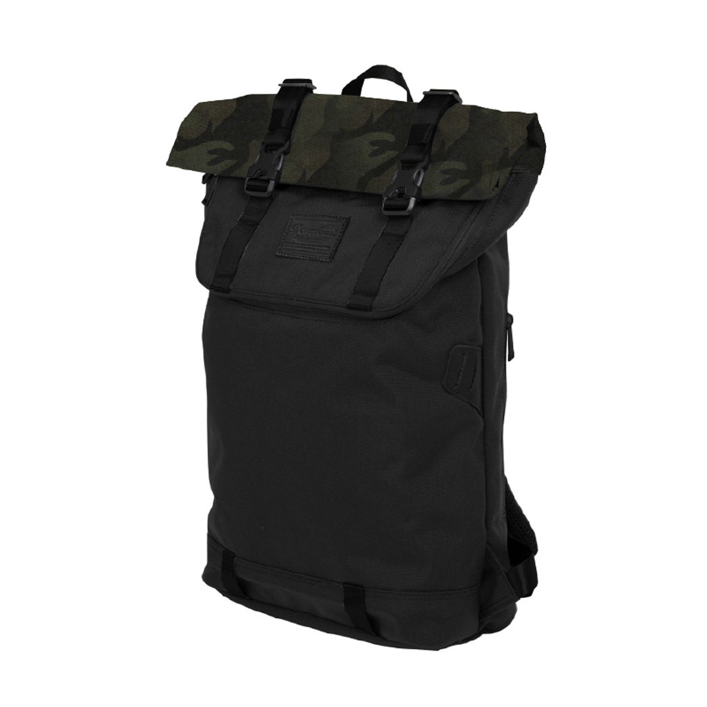 Doughnut Christopher Rucksack Rolltop Daypack 18L Black X Army