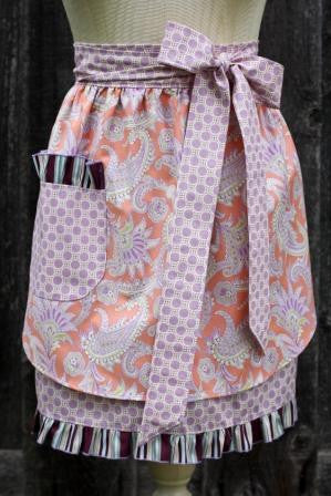 Forever Paisley Adult Half Apron