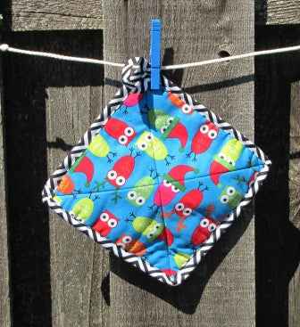 Holiday Owl Potholder