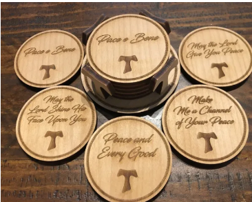 Franciscan Coaster Set with Holder