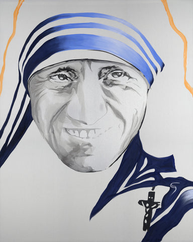"Saint Teresa Original Painting 54"" x 66"""