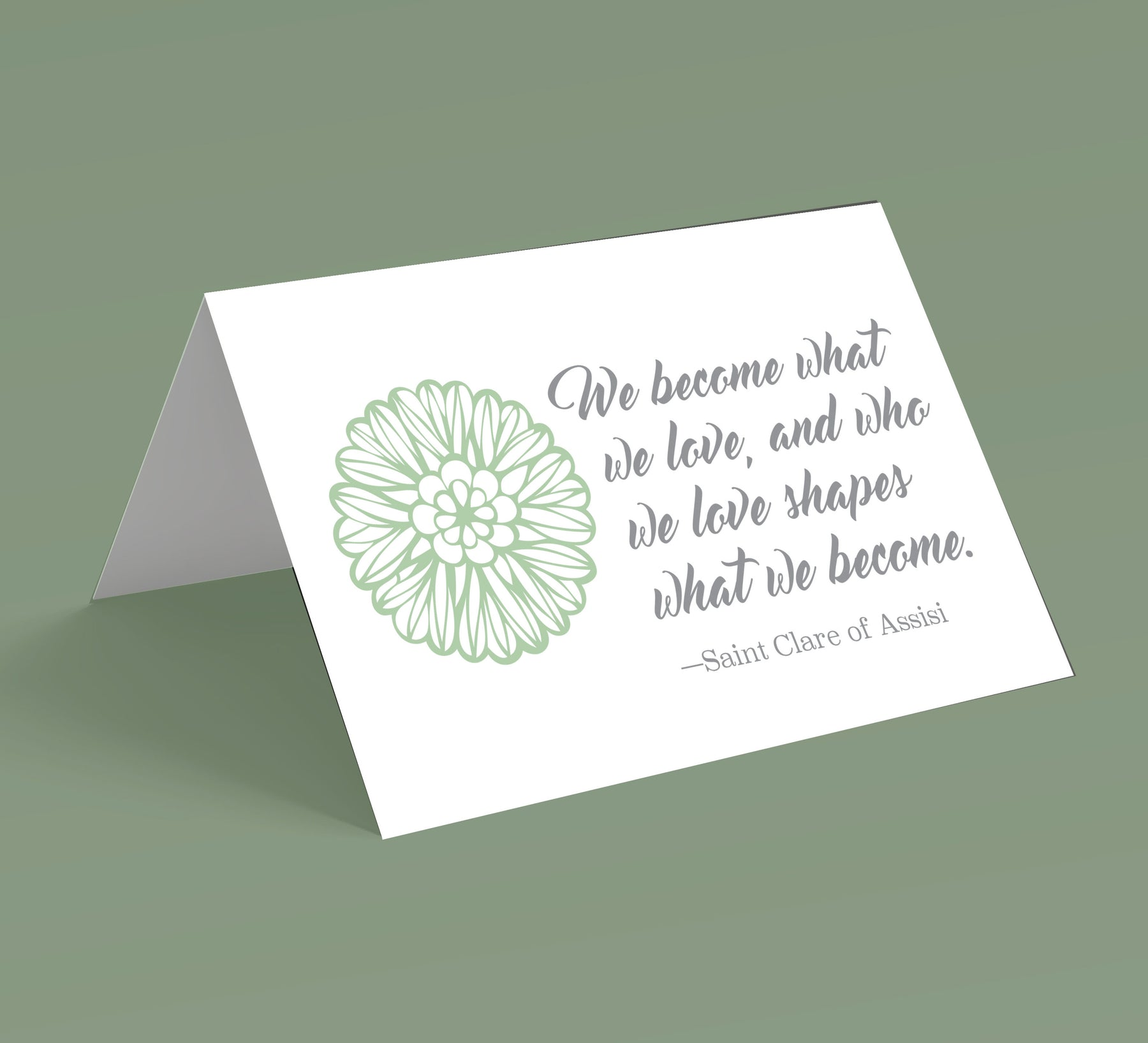 We Become What We Love Note Cards (10 pack)