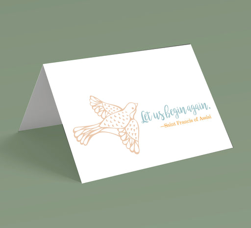 Let Us Begin Again Note Cards (10 pack)