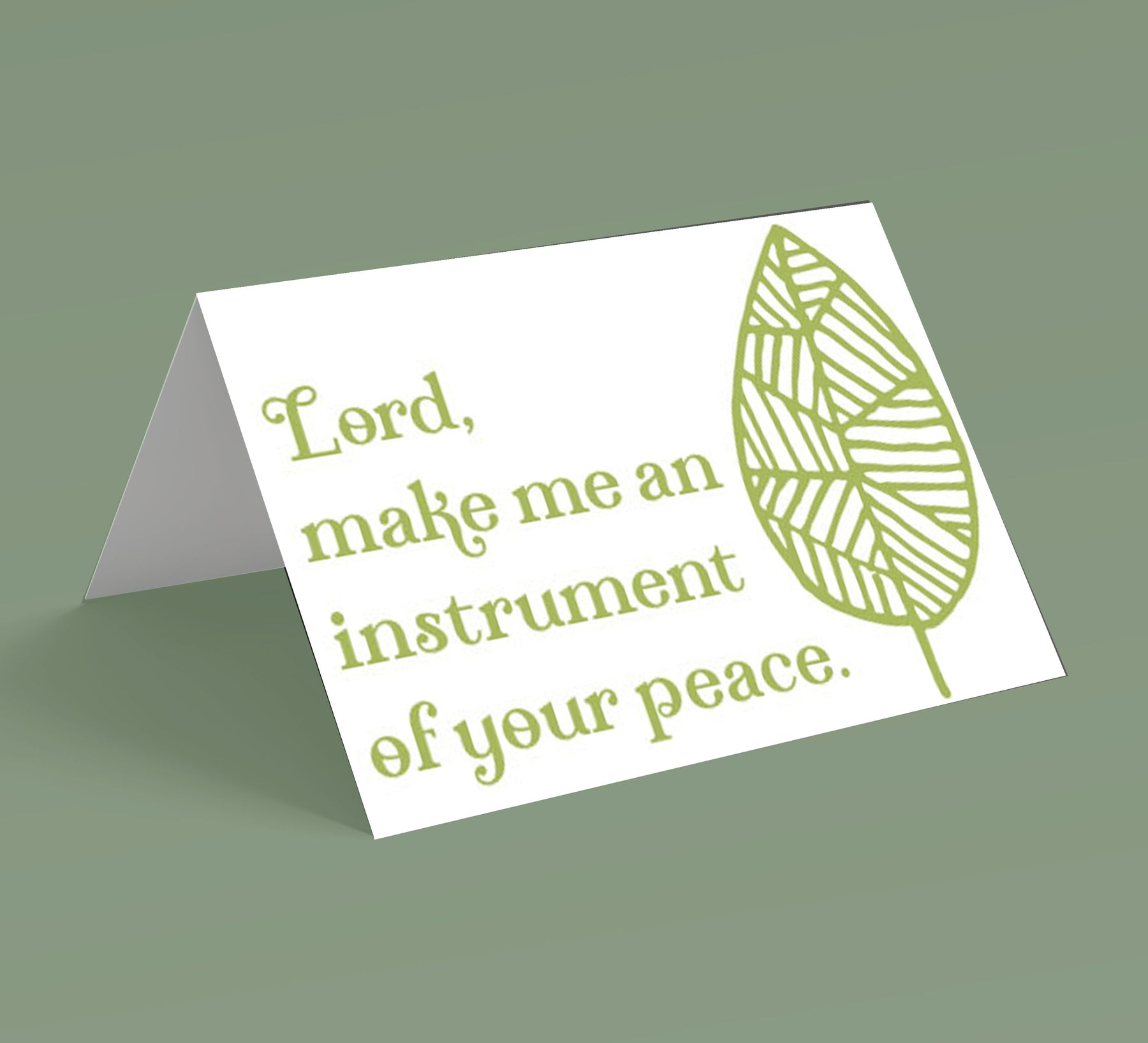 Instrument of Your Peace Note Cards (10 pack)