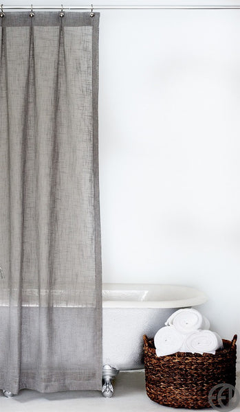 Extra Long Shower Curtain in Multiple Colors