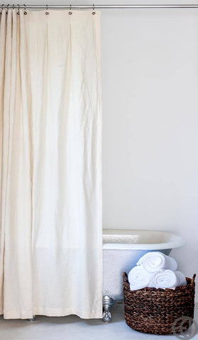 Hemp Shower Curtain EMILY ELLINGWOOD DESIGNS