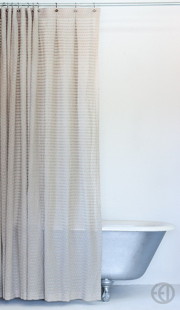 Greige Fabric Shower Curtain in Extra Long Sizes – EMILY ...
