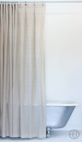Greige Fabric Shower Curtain in Extra Long Sizes