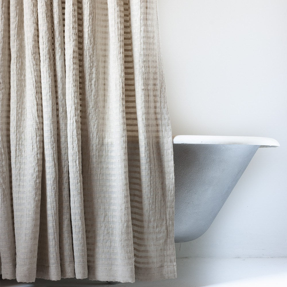 Ordinaire ... Greige Fabric Shower Curtain In Extra Long Sizes ...