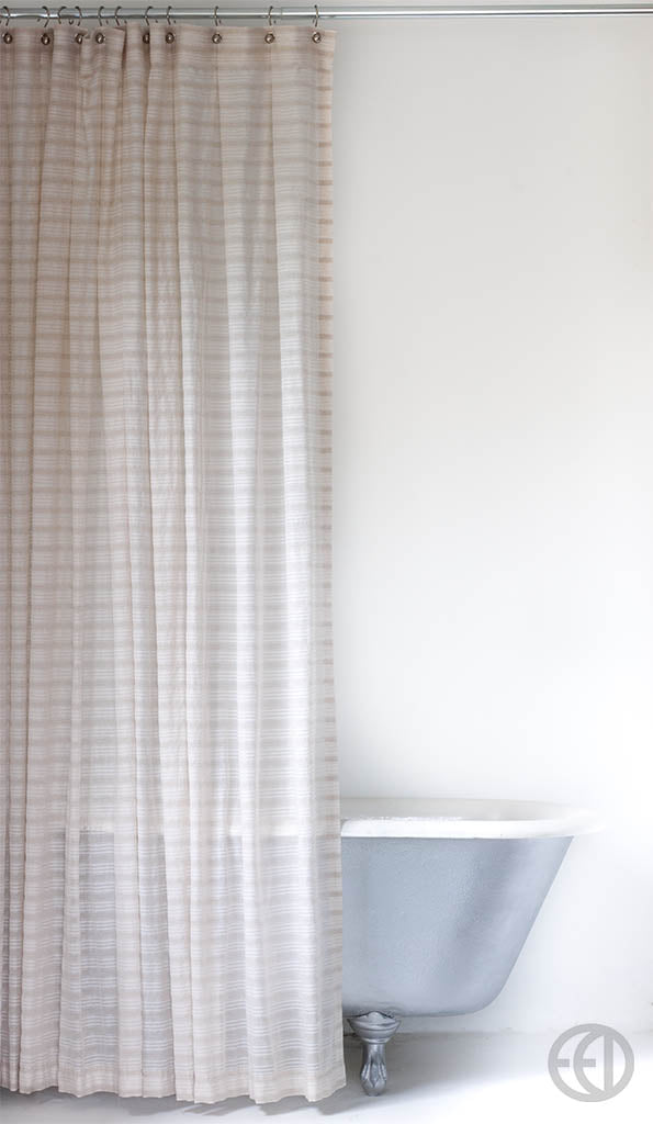 Natural Stripe Shower Curtain