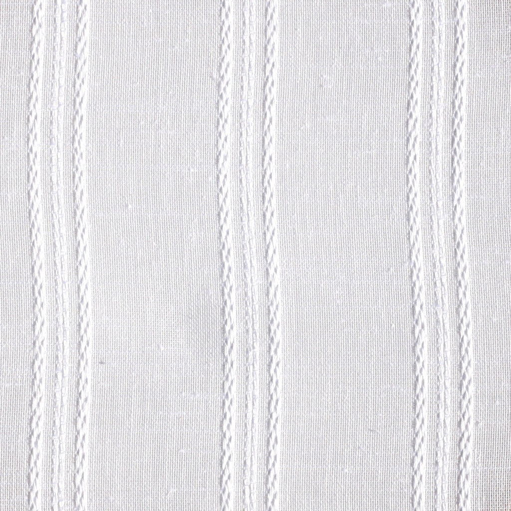 White Stripe Fabric Shower Curtain With Horizontal Band