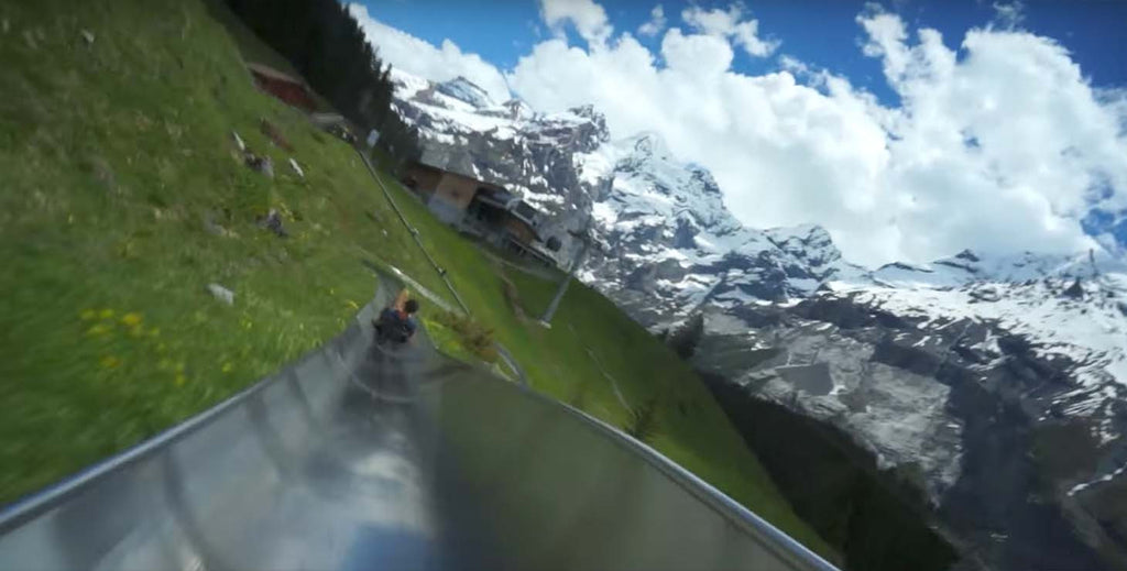 What it's like to ride an alpine coaster through the Swiss Alps