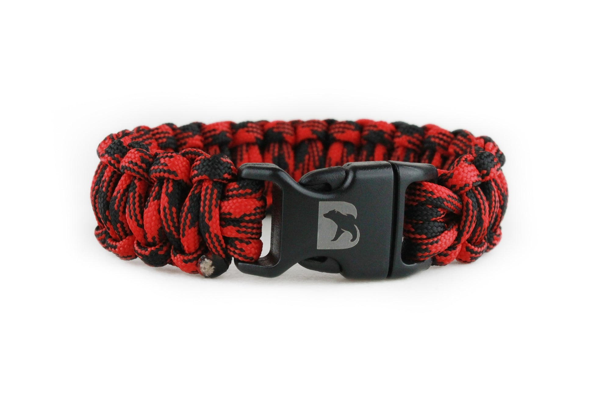 Black and Red Camo Paracord Bracelet
