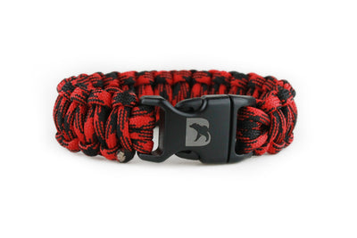 Black and Red Camo Paracord Bracelet - Bearbottom Clothing