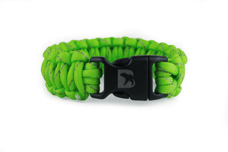 Reflective Flourescent Green Paracord Bracelet