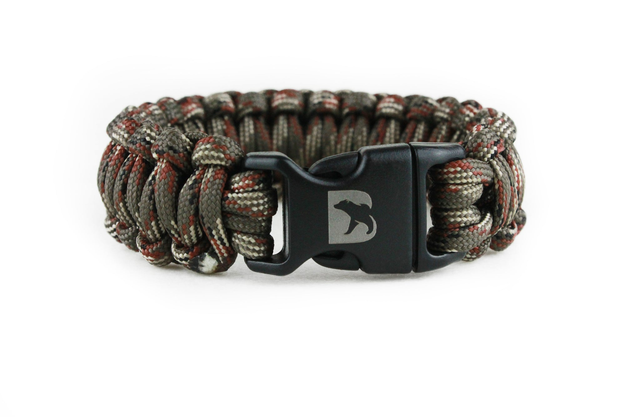 Green Camo Paracord Bracelet - Bearbottom Clothing