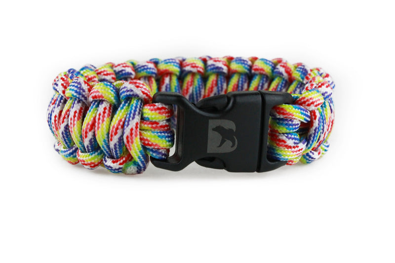 Rainbow Camo Paracord Bracelet - Bearbottom Clothing