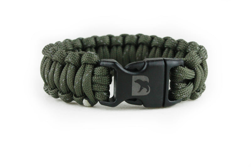 Reflective Army Green Paracord Bracelet