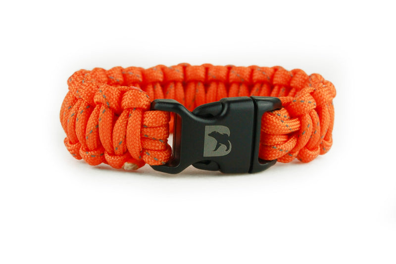 Reflective Orange Paracord Bracelet