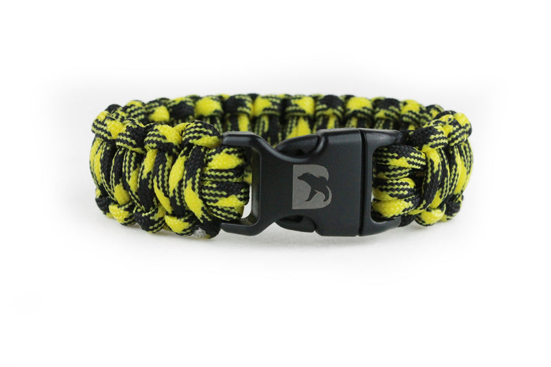 Black and Yellow Camo Paracord Bracelet - Bearbottom Clothing