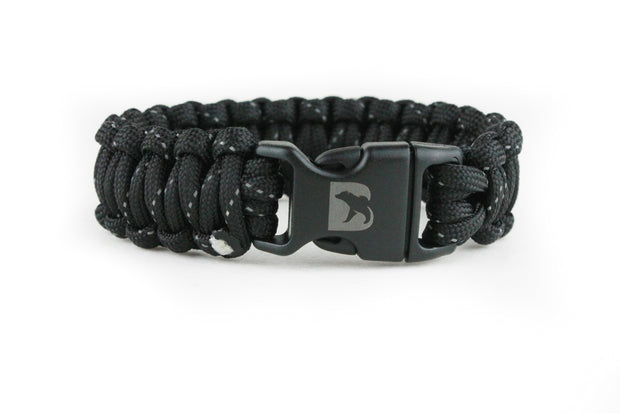 Reflective Black Paracord Bracelet - Bearbottom Clothing