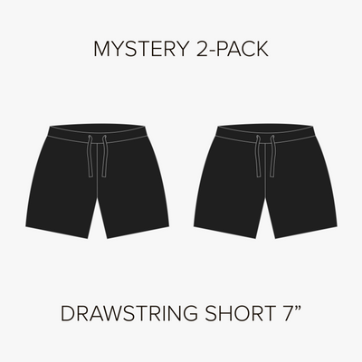"Drawstring Short 7"" Mystery 2-Pack"