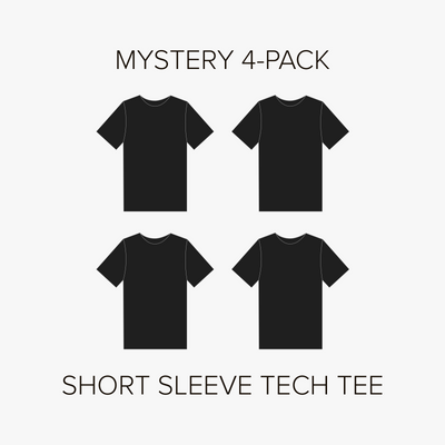 Short Sleeve Tech Tee Mystery 4-Pack