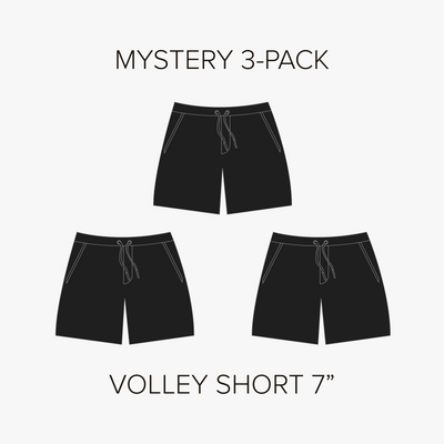 "Volley Short 7"" Mystery 3-Pack"