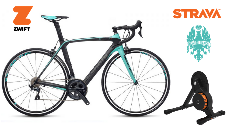 Zwift Road Bike Rental Smart Trainer hire rent Sydney
