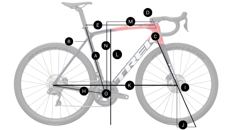 2021 Trek Emonda Bike Geometry Chart and Bike Size