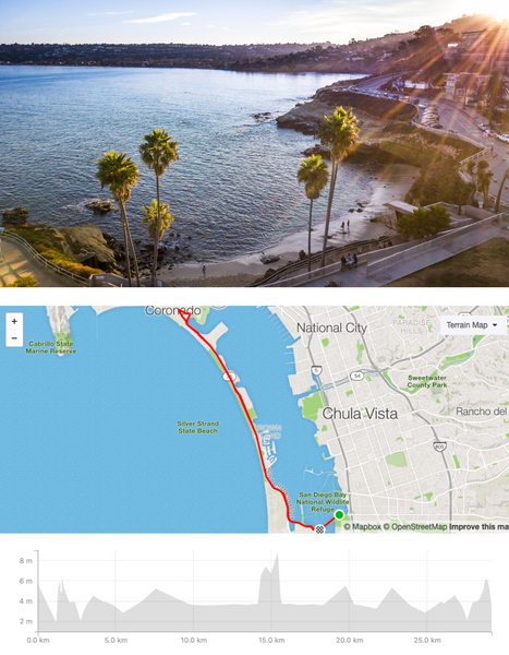 San Diego Cycling Routes Livelo Road Bike Rental