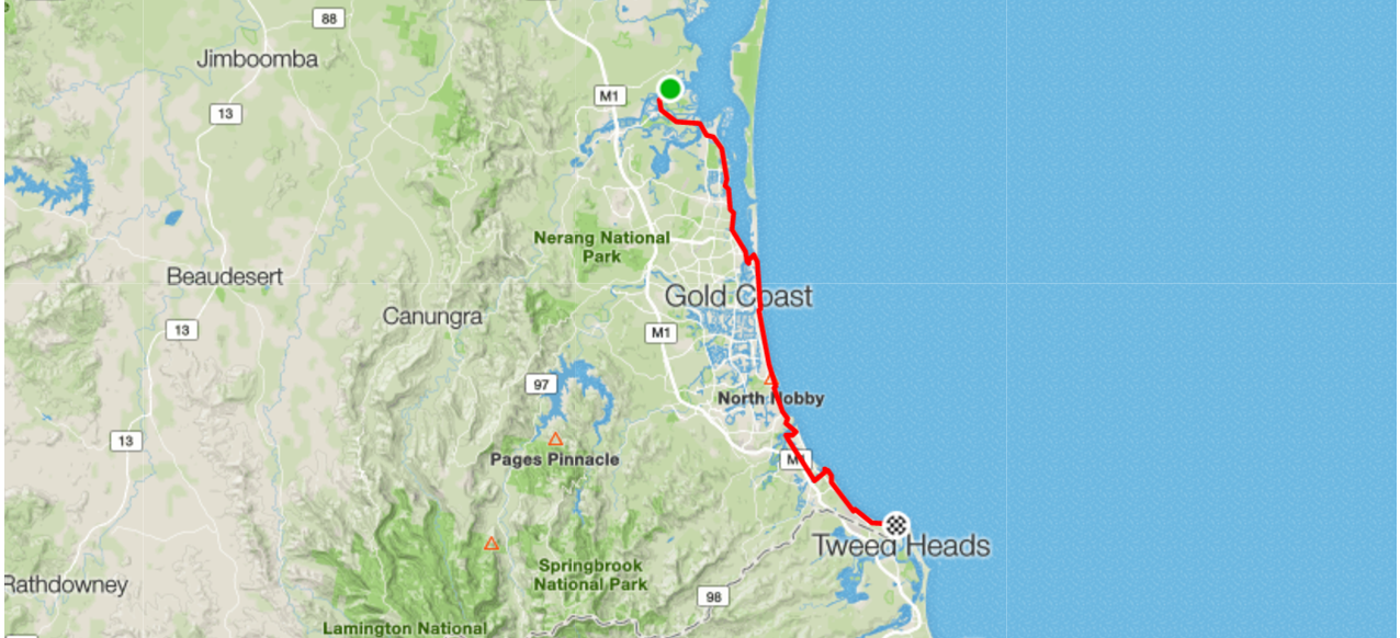 Bike Routes Gold Coast Livelo Sanctuary Cover to Tweed Heads