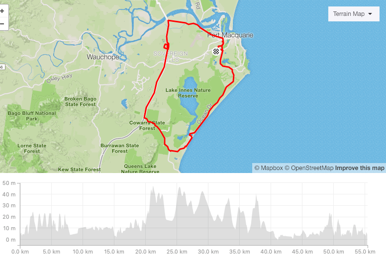 Port Macquarie Training Ride Strava