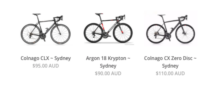 Livelo Sydney Bike Rental Collection Bikes