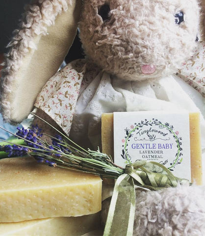 Gentle Baby ~oatmeal lavender avocado organic soap