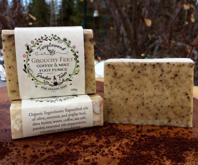 Grouchy Feet~ Coffee & Mint Foot Pumice Organic Soap
