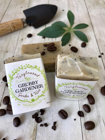 New! Grubby Gardener in jute sack~ Organic Mint 'n Rosemary with coffee pumice